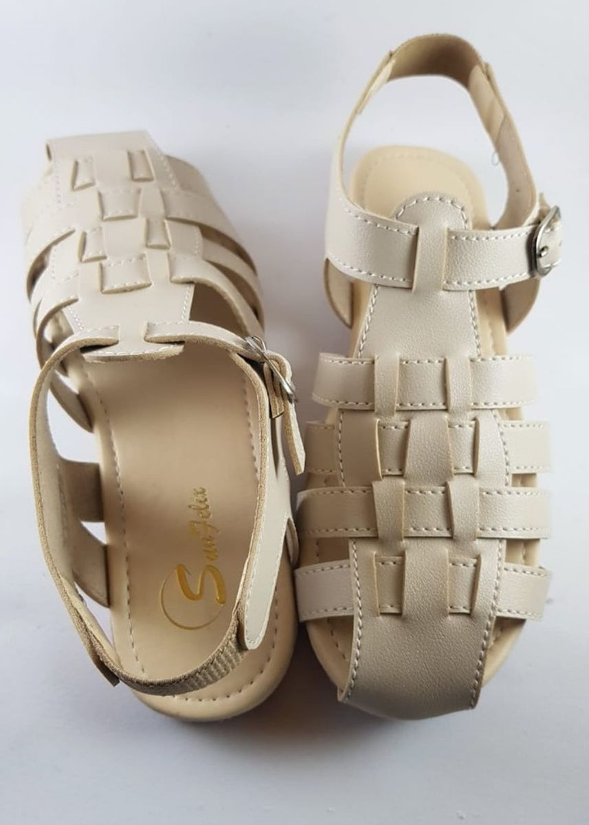 Khaki color Sandals and Slippers . Sunfelix Sandal Flip Flop Wanita -