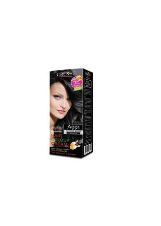 No Color color Styling . Cruset Hair Colour Cream A Series 60 ml. A991 Natural Black -