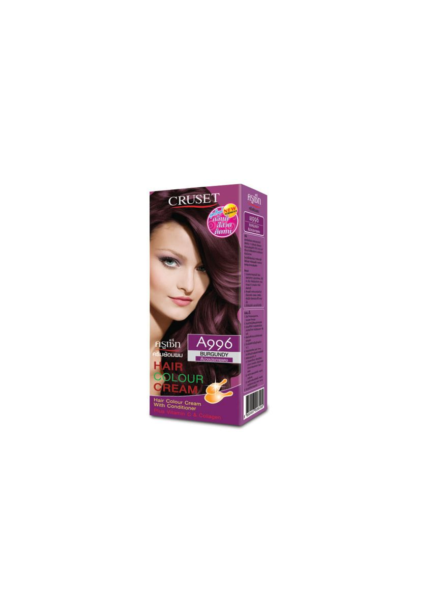 No Color color Styling . Cruset Hair Colour Cream A Series 60 ml. A996 BurGundy -