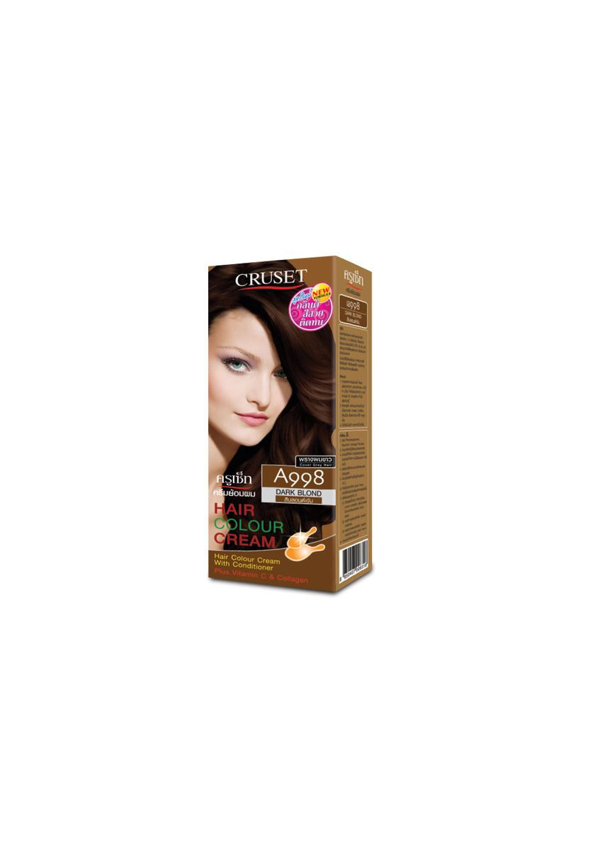 No Color color Styling . Cruset Hair Colour Cream A Series 60 ml. A998 Dark Blond -