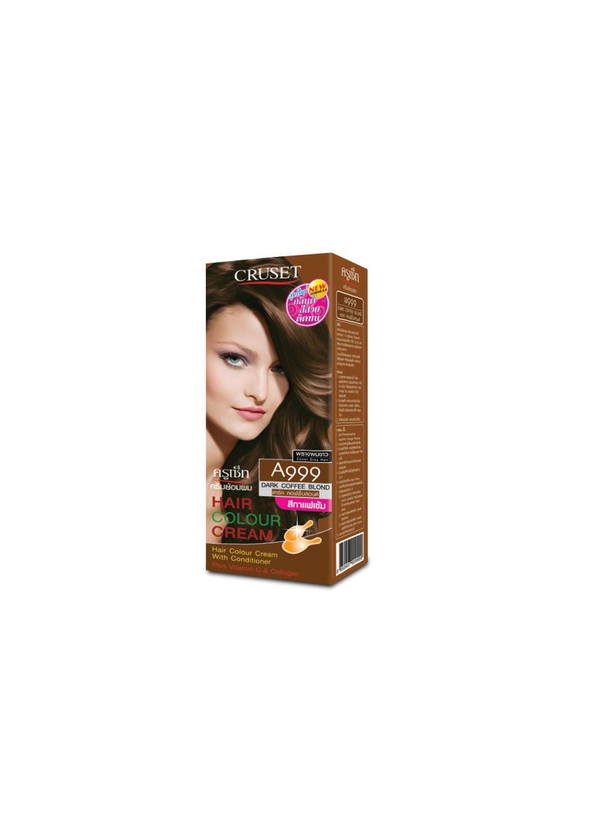 No Color color Styling . Cruset Hair Colour Cream A Series 60 ml. A999 Dark Coffee Blond -
