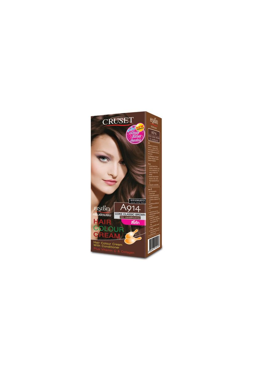 No Color color Styling . Cruset Hair Colour Cream A Series 60 ml. A 914 Coke Classic Brown -