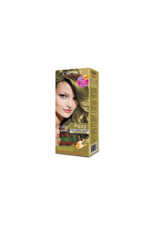 No Color color Styling . Cruset Hair Colour Cream A Series 60 ml. A 923 ash Green Blond -