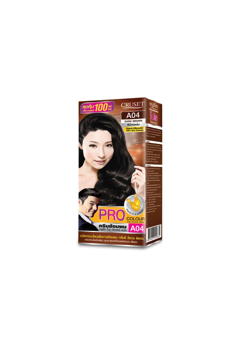 No Color color Styling . Cruset PRO Colour Hair Colour Cream 100 ml. A04 Dark Brown -