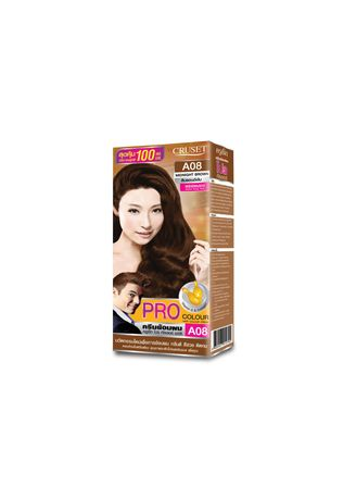 No Color color Styling . Cruset PRO Colour Hair Colour Cream 100 ml. A08 Midnight Brown -