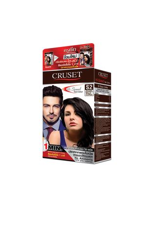 No Color color Styling . Cruset Hi-Speed Hair Colour 45 g. S2 Black Dark Brown -