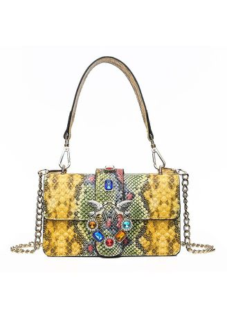 Sling Bags . Snake Small Square Bag Popular Shoulder Bag -