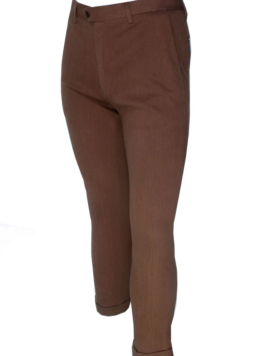 Brown color Casual Trousers and Chinos . Mogao Men's Casual Pants -