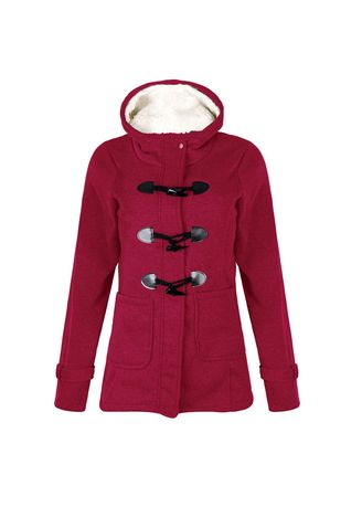 Maroon color Jackets . Cotton Hooded Long  Ladies Jackets -