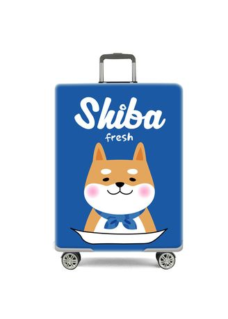 Travel Wallets & Organizers . Elastic Travel Luggage Bag Protector Cover-Shiba  M Size -