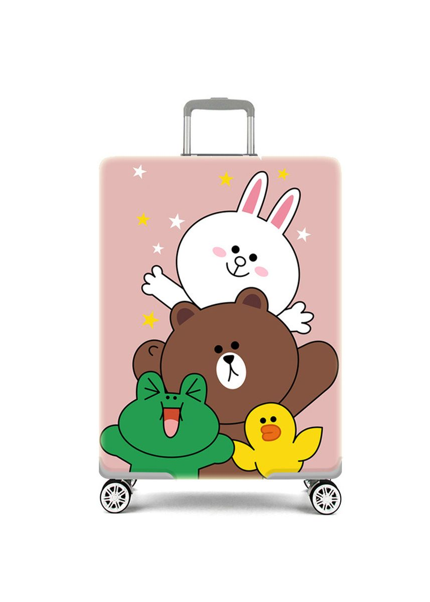 Multi color Travel Wallets & Organizers . Elastic Travel Luggage Bag Protector Cover-Happy Line Friends  XL Size -