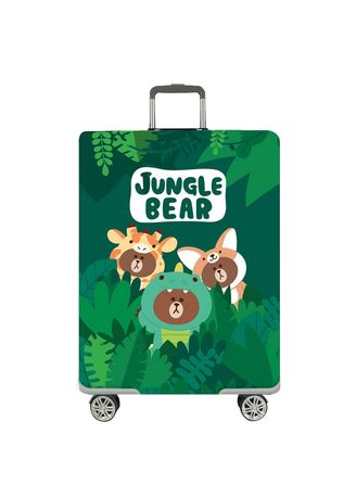 Multi color Travel Wallets & Organizers . Elastic Travel Luggage Bag Protector Cover-Jungle Bear M Size -