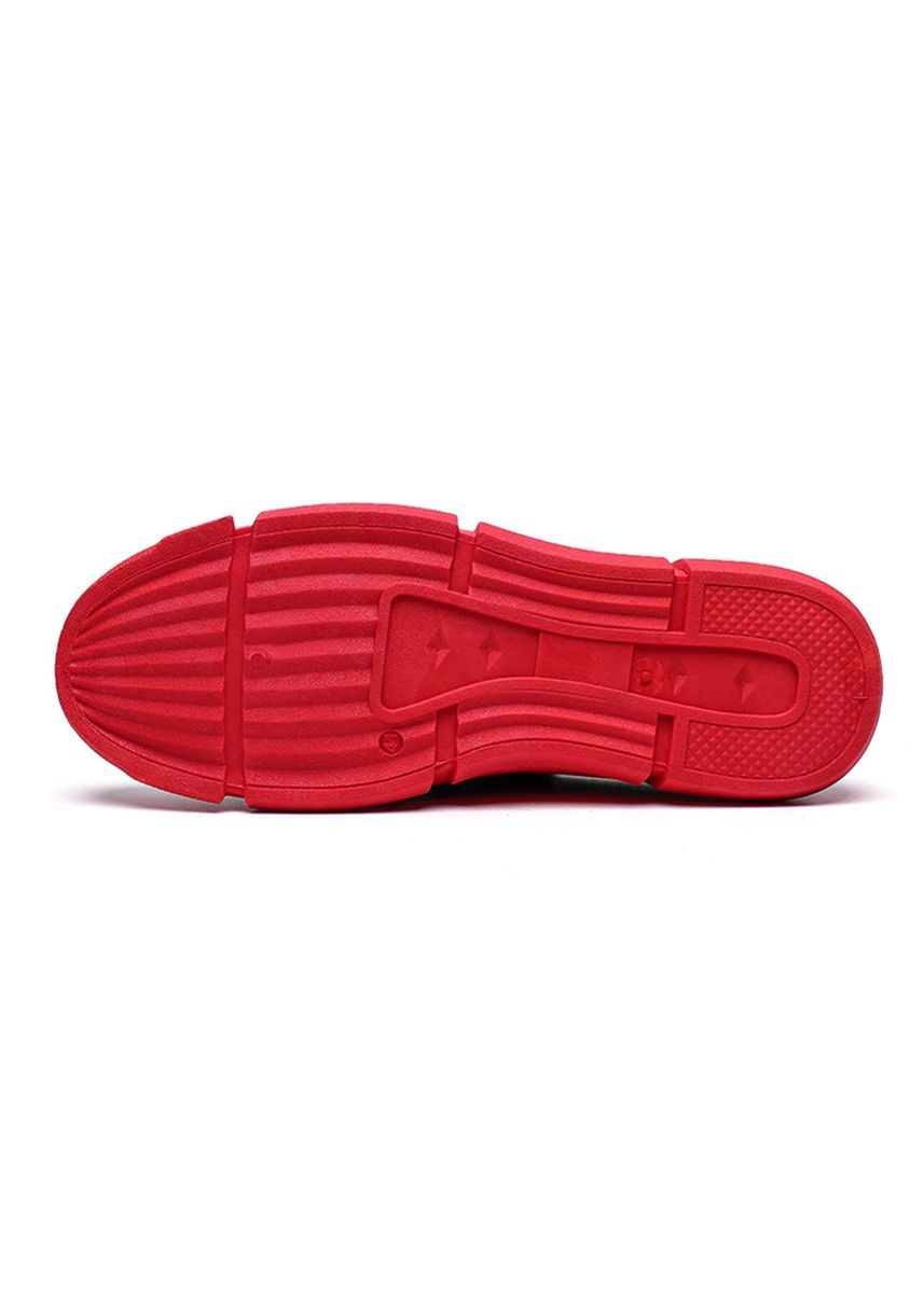 Red color Sandals and Slippers . Men's Mesh Breathable Platform Casual Half Slippers -