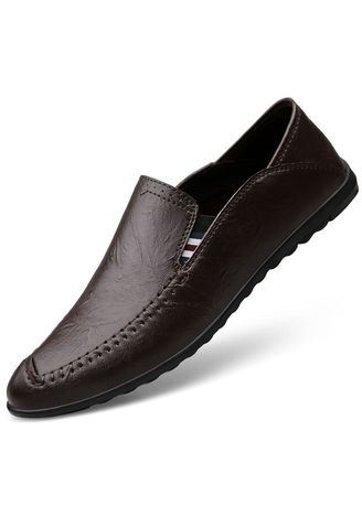 Brown color Casual Shoes . Premium Genuine Leather Casual Slip on Loafers -