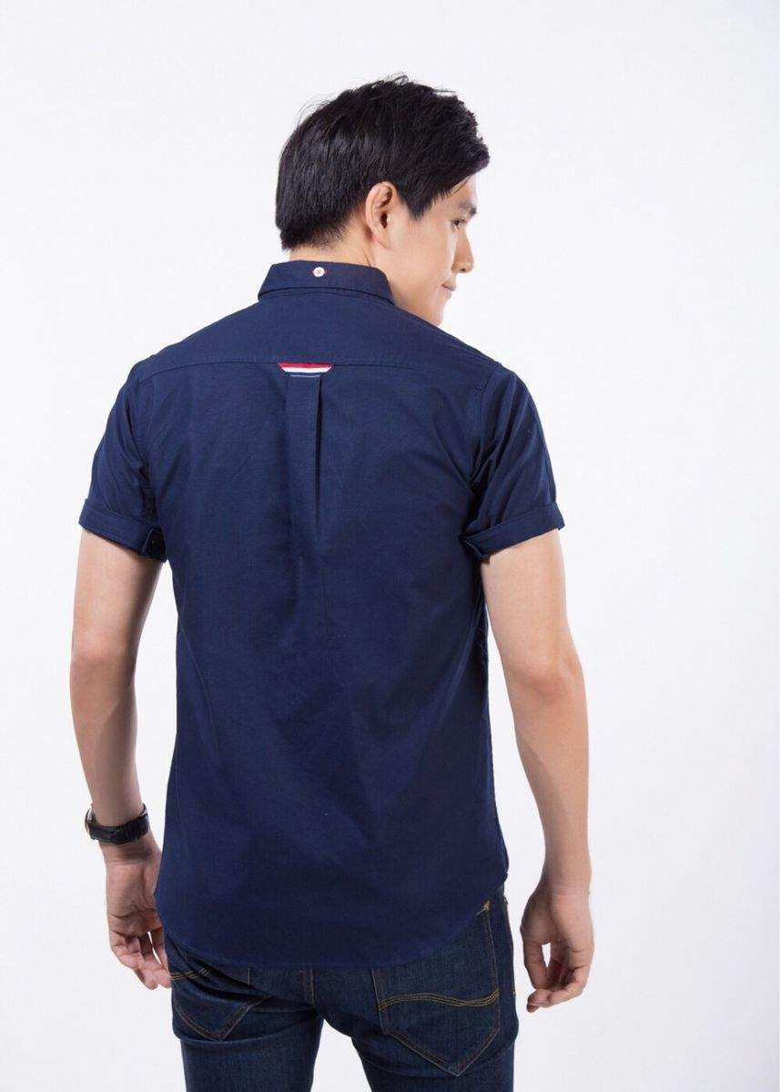 Navy color Casual Shirts . Quattro - Double Stripe -