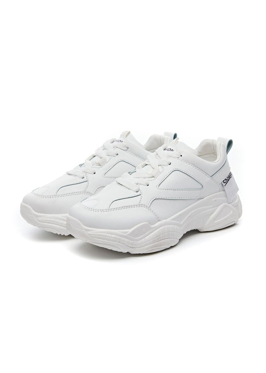 White color Sports Shoes . Women's Classic Fashion Breathable Sneaker -