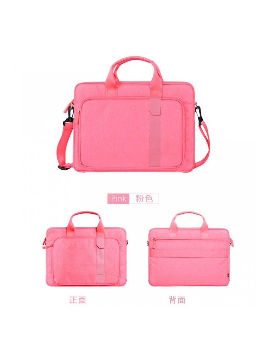 Pink color Duffle Bags . WIWU GM4100 - PIONEER Series - 14 inch Decompression Computer Bag Pink -