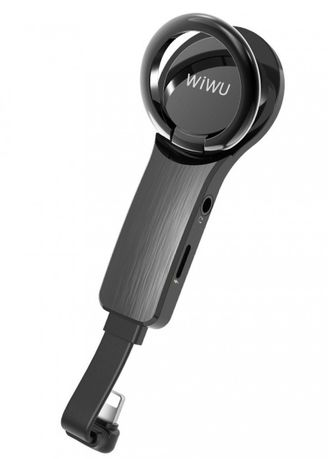 Black color  . WIWU LT05 Lightning Audio Adapter Connector for Apple Devices -