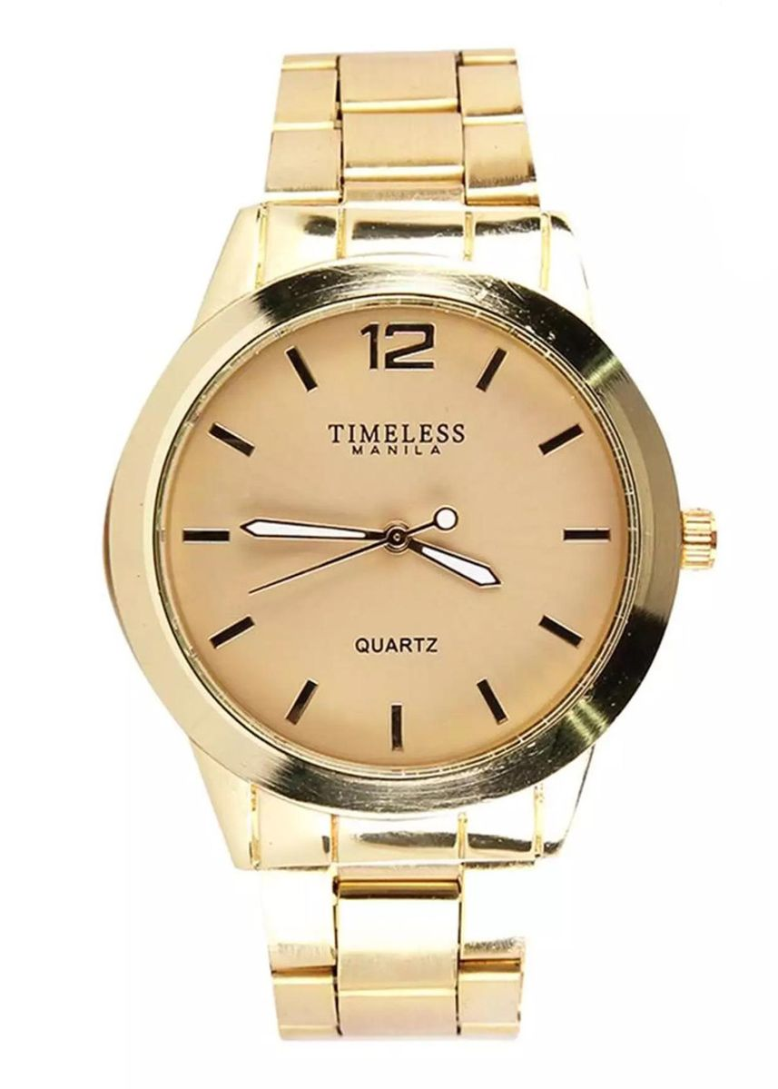 Beige color Analog . Timeless Manila Stainless Steel Analog Watch -