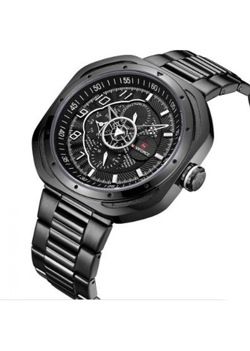 Black color Chronographs . Naviforce Stainless Analog Watch  -