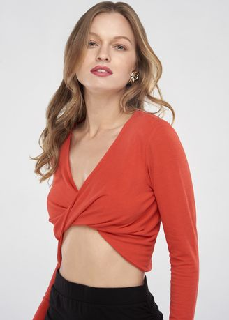 Red color Tops and Tunics . Twist Top -