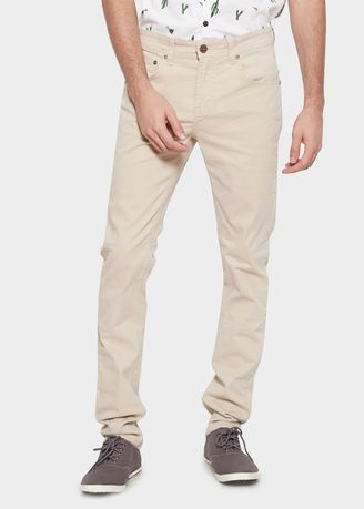 Beige color Casual Trousers and Chinos . Emba Jeans BS07.4 Men's Pants in Beige -