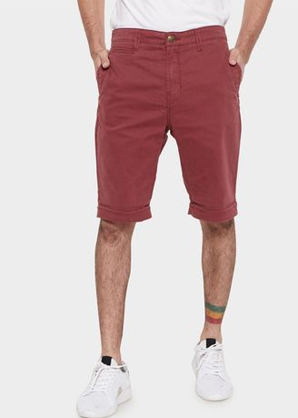Maroon color Shorts & 3/4ths . Emba Jeans Geoges Short Pants in Madder Brown -