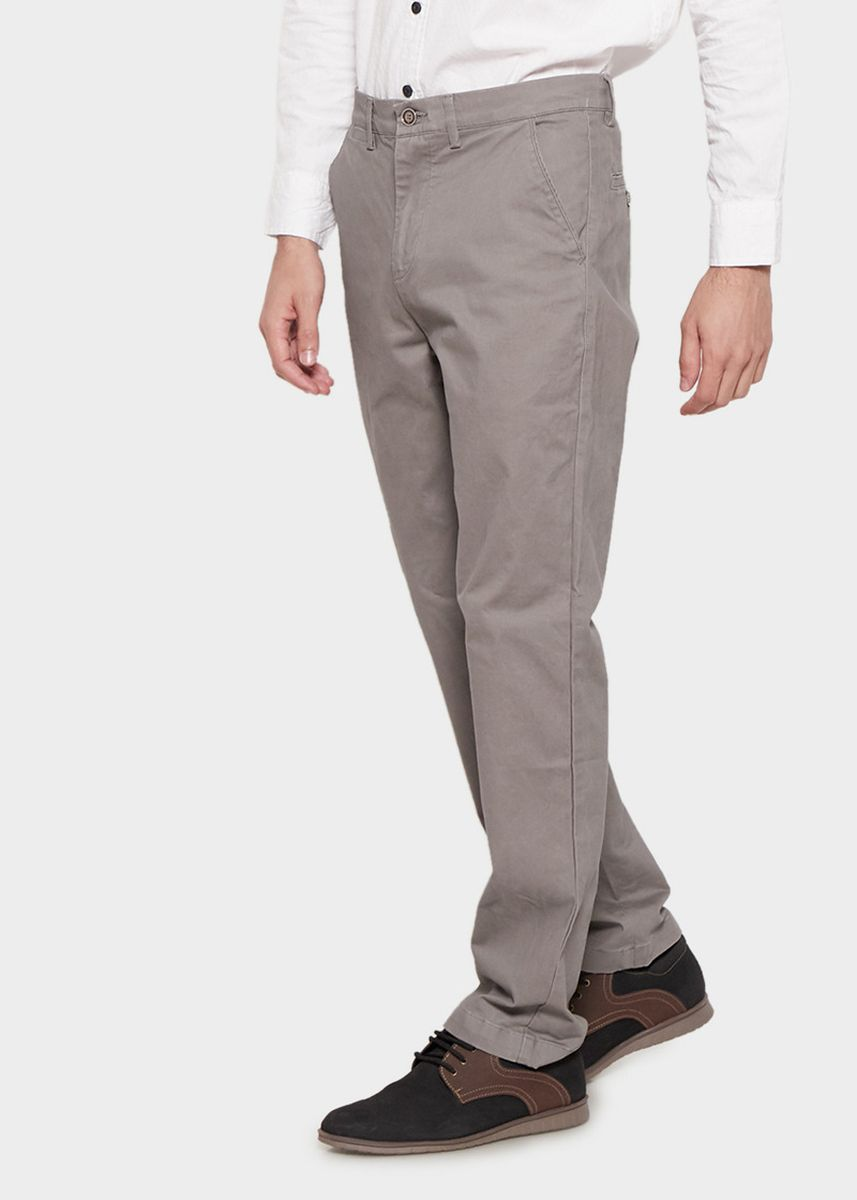 Grey color Casual Trousers and Chinos . Emba Classic Arion One Men's Pants in Grey -
