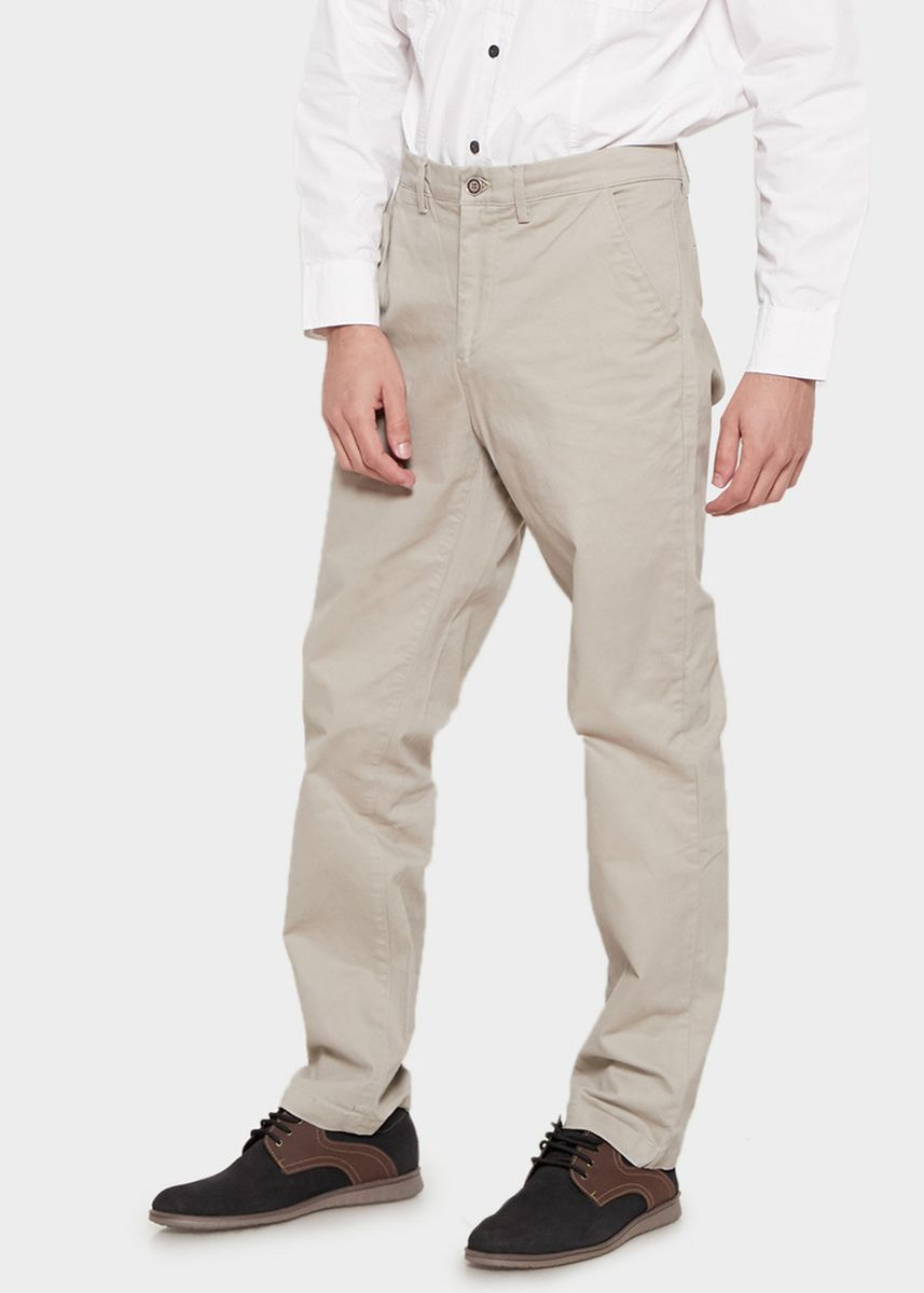Beige color Casual Trousers and Chinos . Emba Classic Arion One Men's Pants in Cream -