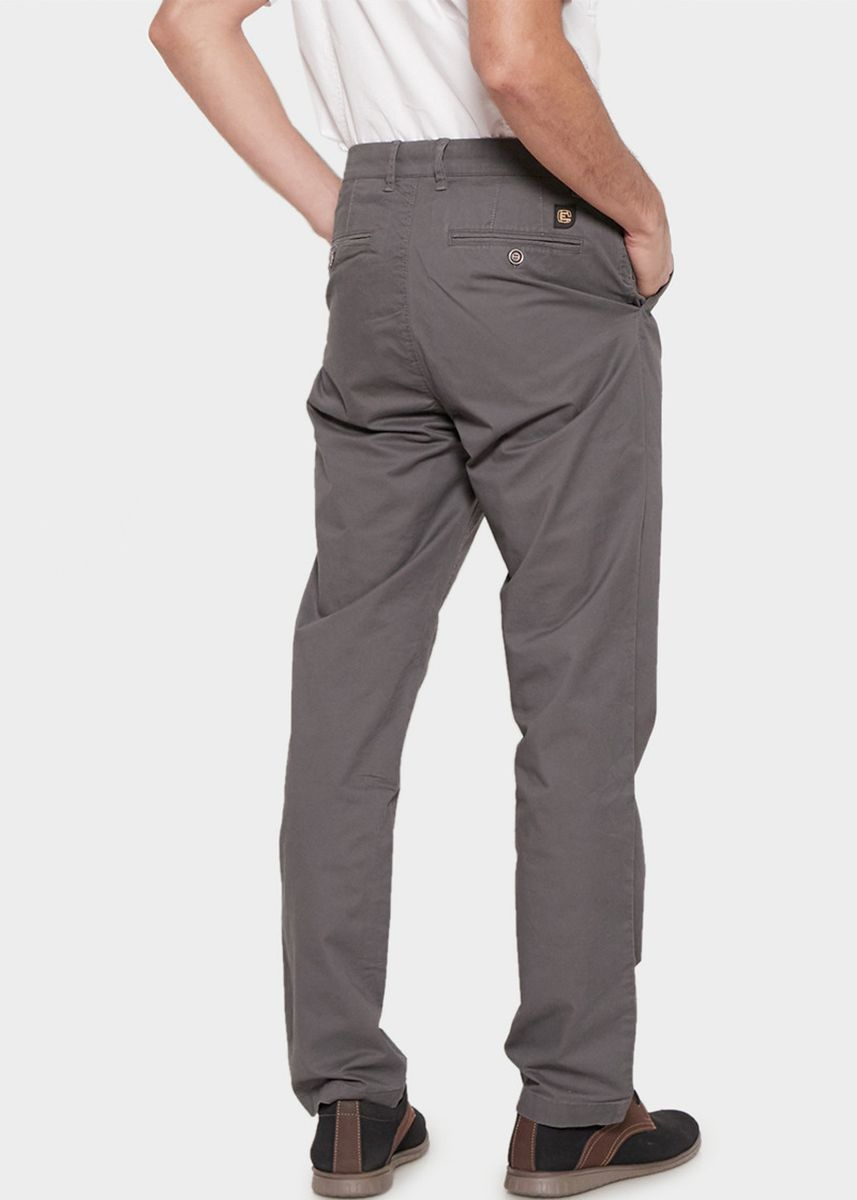 Grey color Casual Trousers and Chinos . Emba Classic Axelle One Men's Pants in Grey -