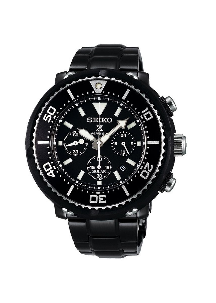 Black color Chronographs . Seiko Prospex Diver Scuba Limited Edition -
