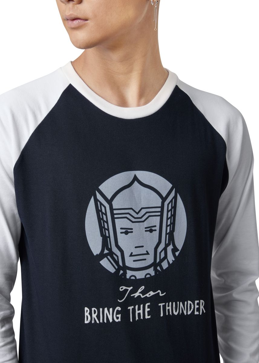 Black color T-Shirts and Polos . Official Bring The Thunder Long Sleeve Shirt -