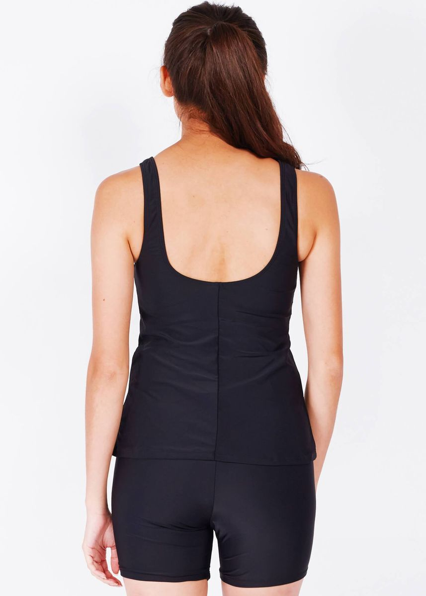 Black color Sports Wear . Performance Tankini Top -