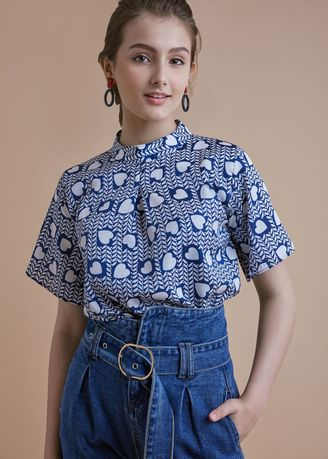 Blue color Tops and Tunics . Lovely blouse -