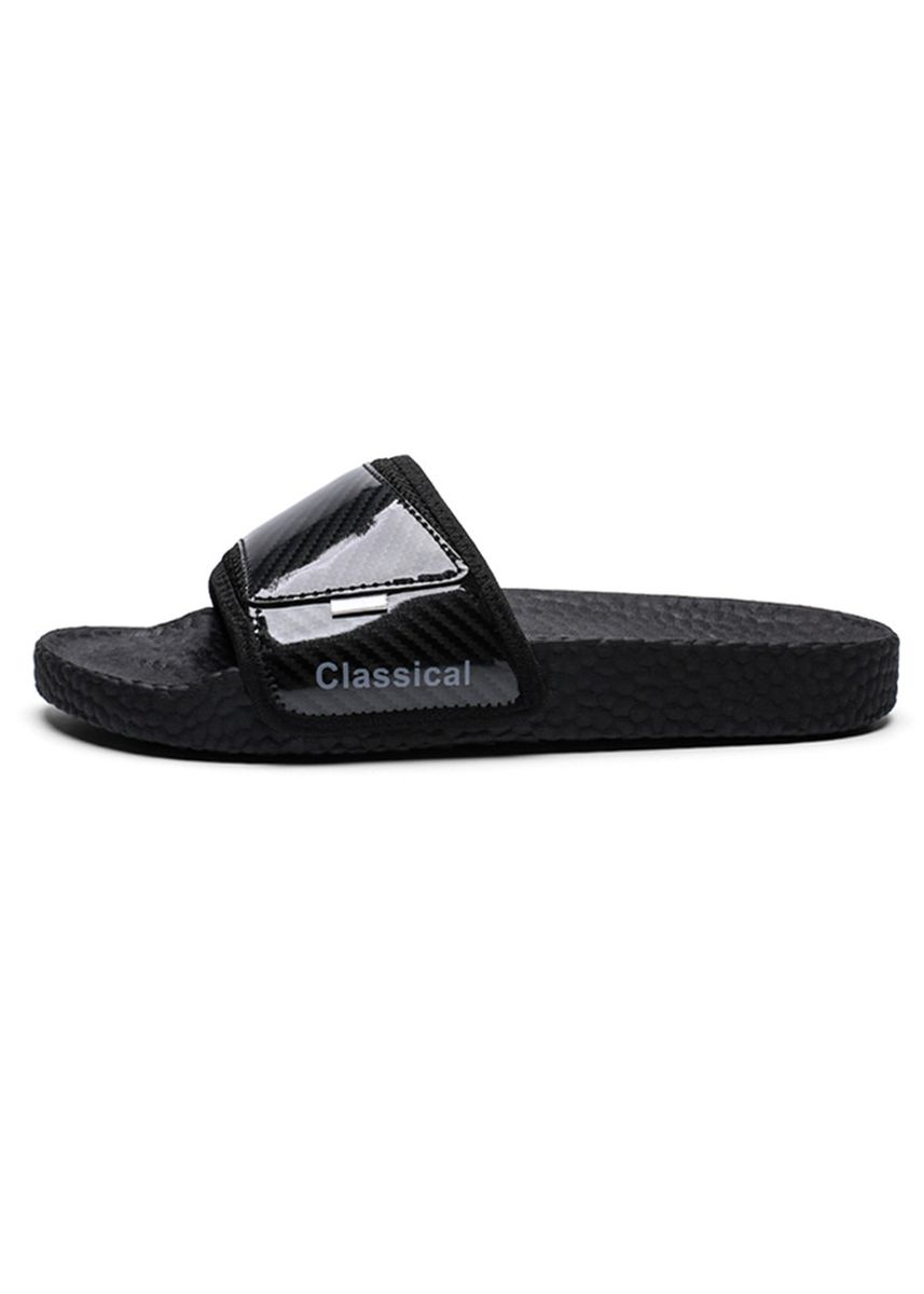 Black color Sandals and Slippers . Men's Lightweight Slide Beach & Pool Shoes -