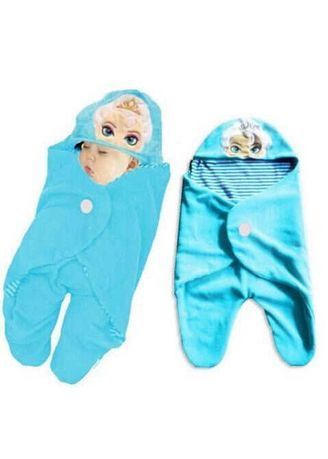Blue color Accessories . Bedong Selimut - Baby Wrab Elsa F595 -