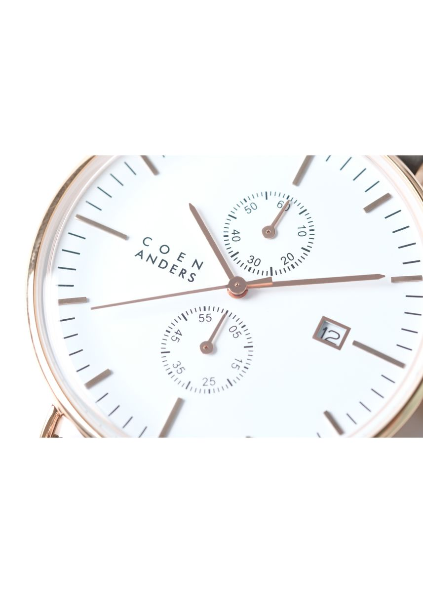 Gold color Chronographs . Coen Anders St.Asaph White -