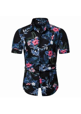 Casual Shirts . Floral Classic Style Short Sleeve  Men's Shirts  -