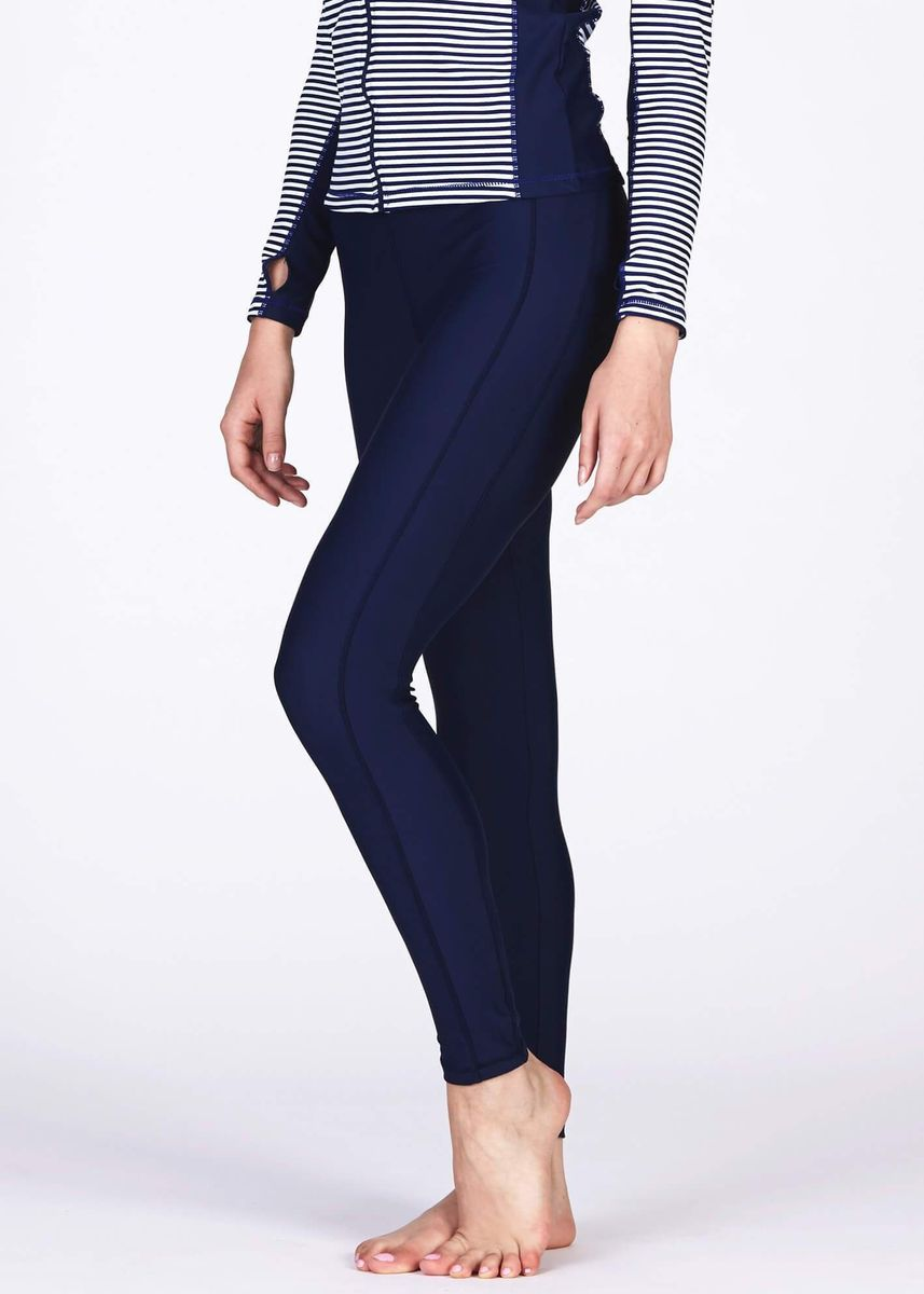 Navy color  . Swim Tights Unisex With Sun Protection -