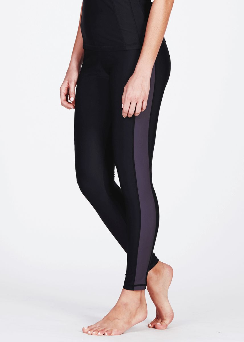 Black color  . Swim Tights Unisex With Sun Protection -