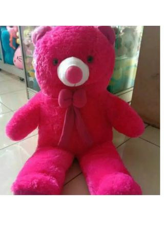 Merah color Mainan . Boneka teddy bear jumbo -