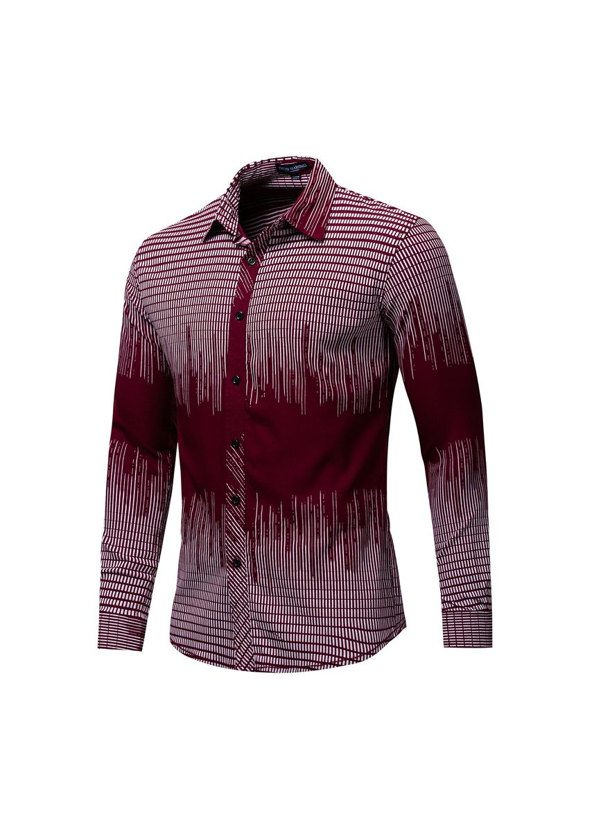 Red color Casual Shirts . Pure cotton Long Sleeves Checked Shirts -
