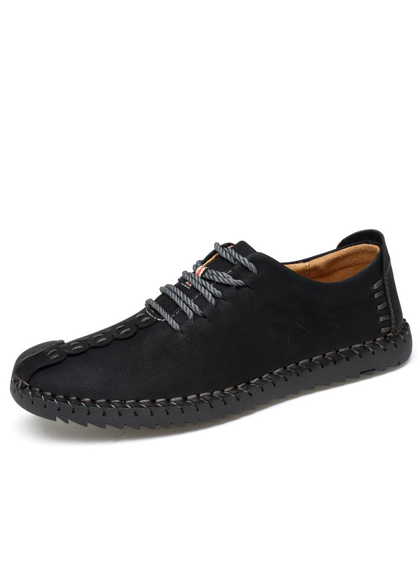 Black color Casual Shoes . Large Size Men's Shoes Casual British Wind Outdoor Handmade Men -