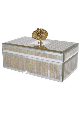 Gold color Home Decor . Fossa Glitter Trinket Box -