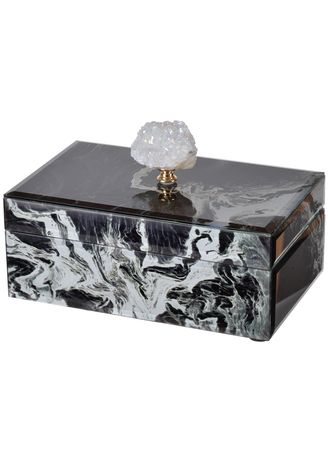 Black color Home Decor . Ethel Marble Trinket Box -