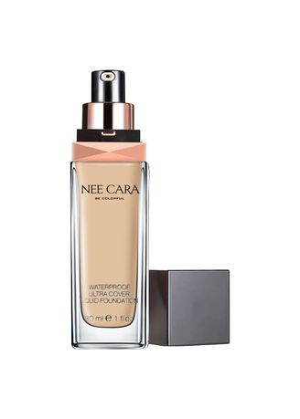 Yellow color Face . NEE CARA Liquid Foundation Waterproof รองพื้นกันน้ำ n589 #21 -