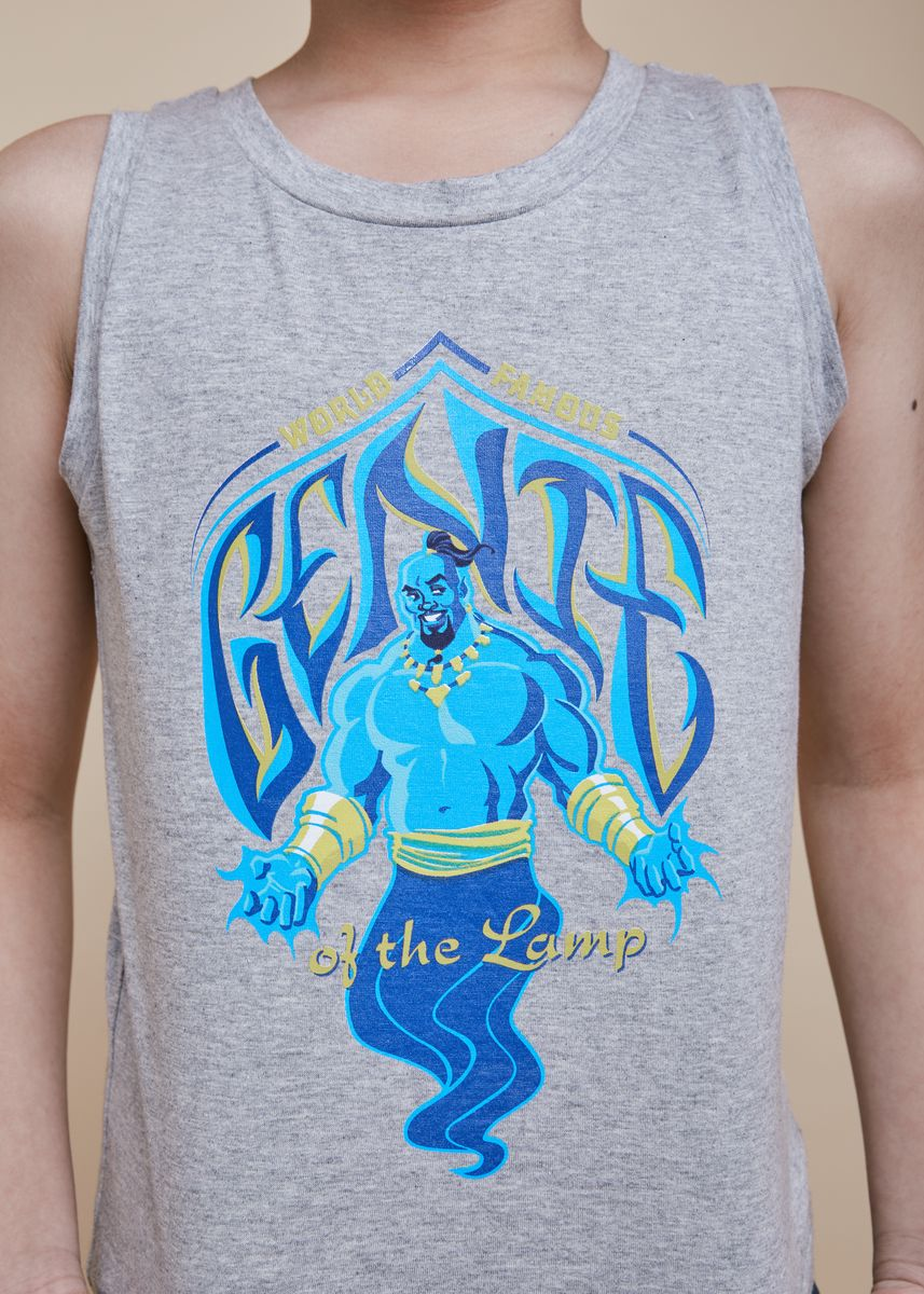 เทา color เสื้อ . Official Genie Grey Tank Top -