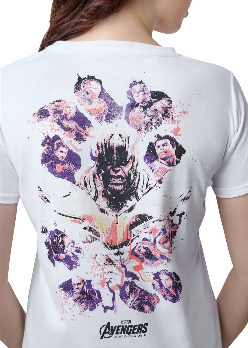 White color Tees & Shirts . Official Marvel's Avengers Assemble White T-Shirt -
