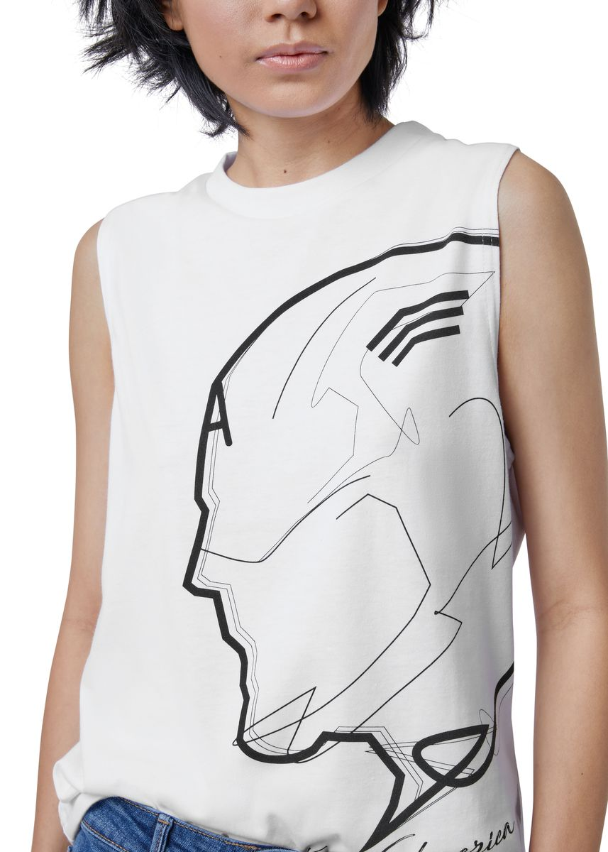 White color Tees & Shirts . Official Captain America Tank Top -