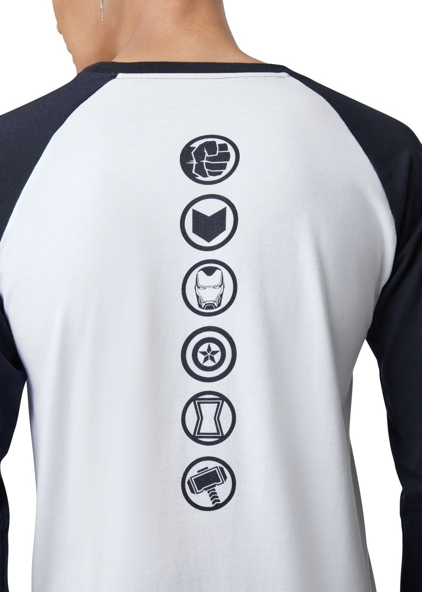 White color T-Shirts and Polos . Official Marvel's Avengers Icon Long Sleeve Shirt -